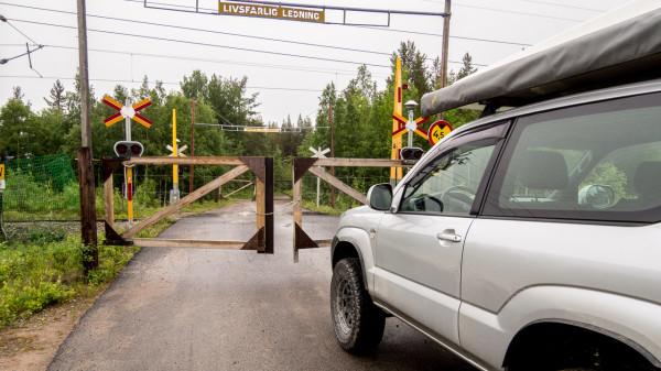 Bahnübergang Lappland