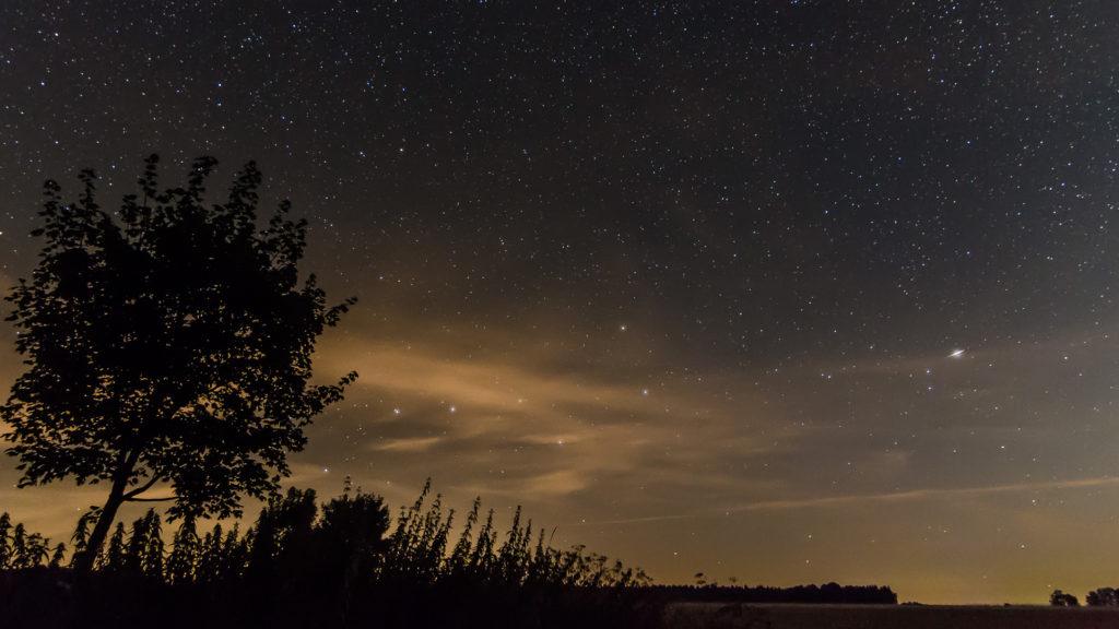 Sternenhimmel über der schwäbischen Alb